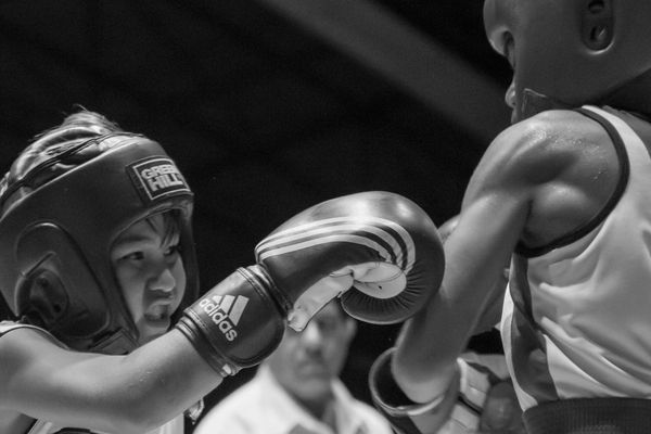 Enfant boxe