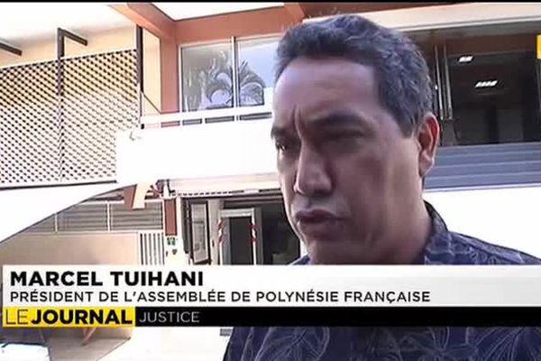 Confrontation Flosse / Tuihani dans l'affaire de la vaisselle de l'Assemblée