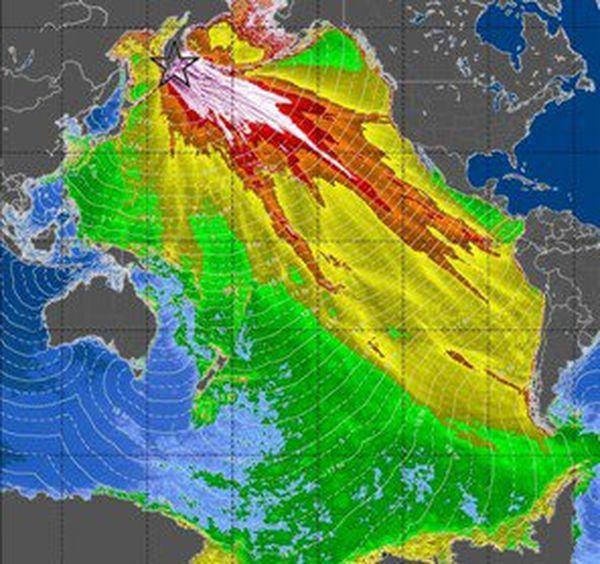 Extension d'un tsunami