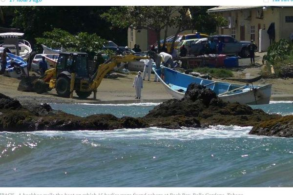 Trinidad et Tobago bateau cadavres