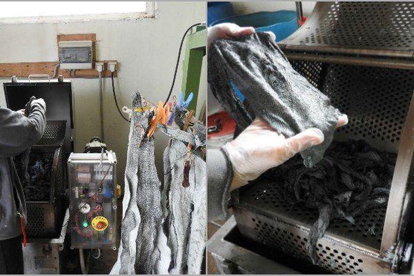 Atelier de transformation  et de traitement de la peau de morue