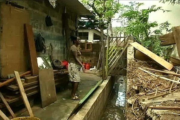 Inondations île Maurice : dégâts case