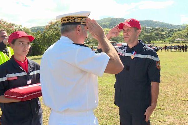 Première journée nationale des pompiers en Calédonie, 12 septembre 2020 à La Foa, Rudy Lheureux