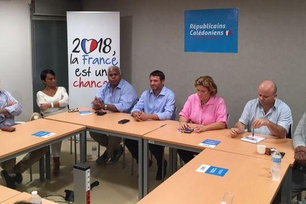 Conférence de presse Républicains calédoniens du 20 juillet 2018