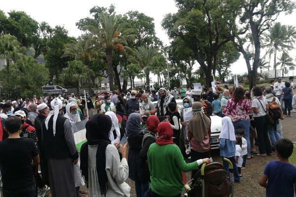 Manifestation en soutiens au peuple Palestinien