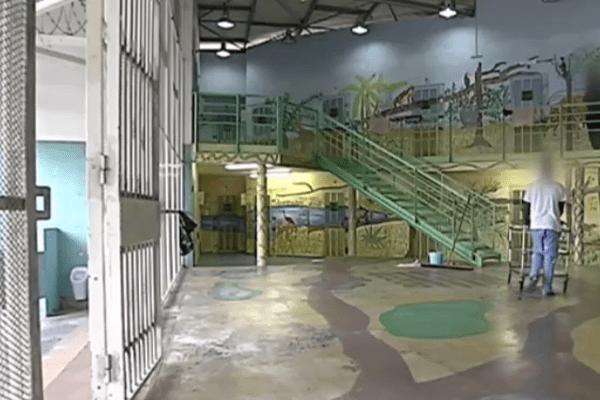 quartier des mineurs de la prison en Guyane