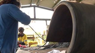 Réparation de la serpentine de Kouaoua, mai 2018