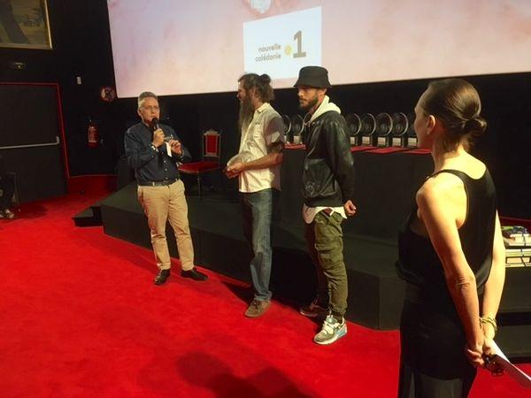 Festival du cinéma de La Foa : Remise du prix du public NC la 1ere, Florian Sagez et Chavi