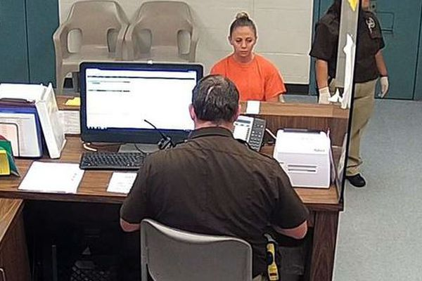 L'officer Amber Guyger lors de son inculpation