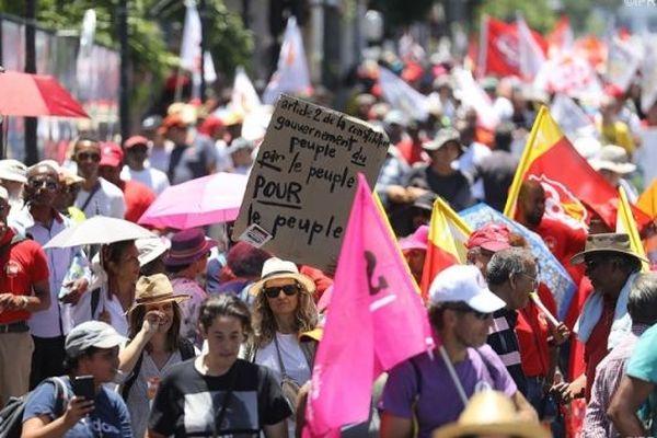 Manifestation contre la réforme des retraites, à La Réunion.