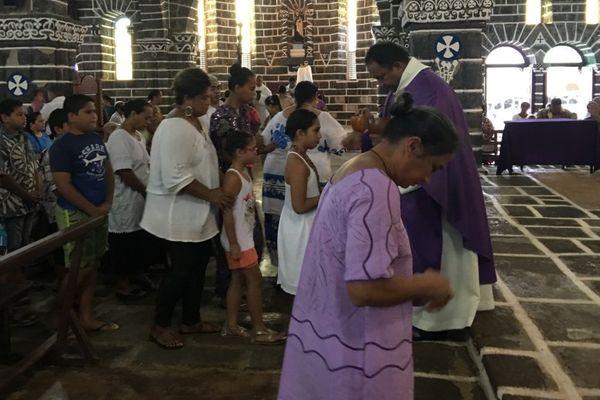 messe du mercredi des cendres cathédrale de Mata Utu