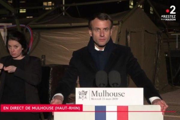 Macron Mulhouse