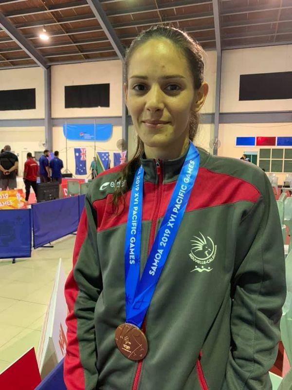 Samoa 2019, Lindsay Gavin en bronze au taekwondo