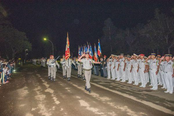 Passation de commandement au Rimap-NC, lieutenant-colonel Lorvoire en tête, 24 juillet 2020