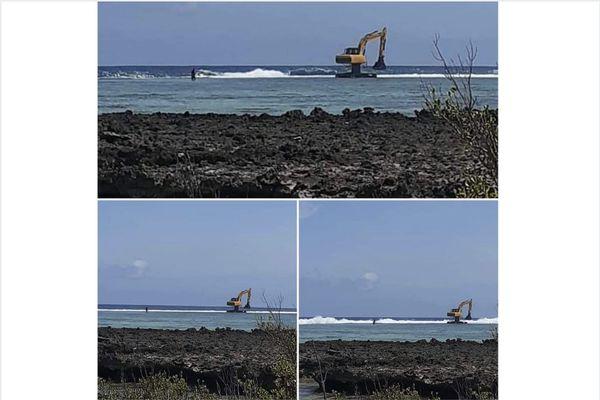 Le récif de Maupiti endommagé par la drague d'une société privée