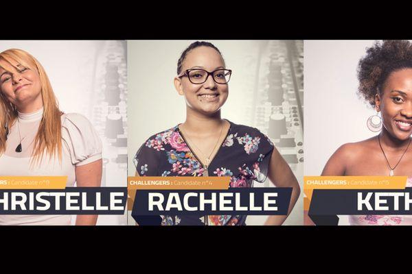 Christelle, Rachelle et Keth