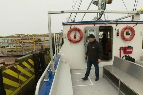 Le premier voyage du P'tit Gravier vers l'Ile aux Marins