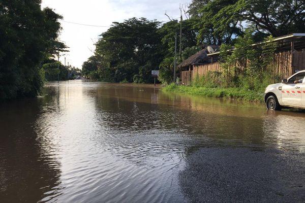 Inondation à Voh