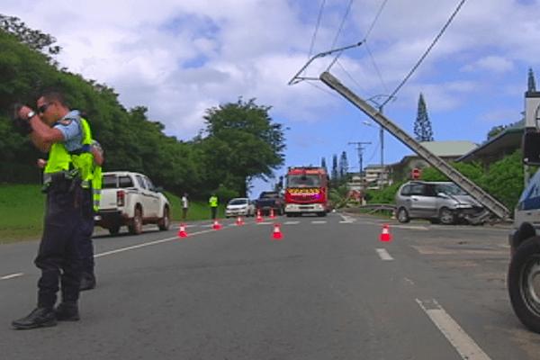 Accident de la route à la hauteur de la caserne de Normandie à Nouméa