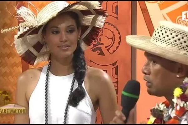 Miss Tahiti, Hinarere Taputu était l'invitée de l'émission Fare maohi