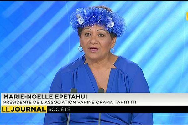 Marie-Noelle Epetahui, présidente Vahine Orama iti