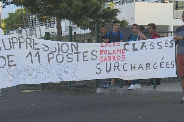 Manifestation des enseignants au Lycée Roland Garros
