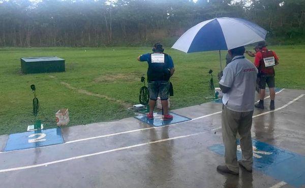 Samoa 2019, balltrap sous la pluie
