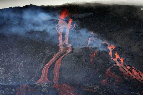 Eruption du Piton de la Fournaise, février 2019.