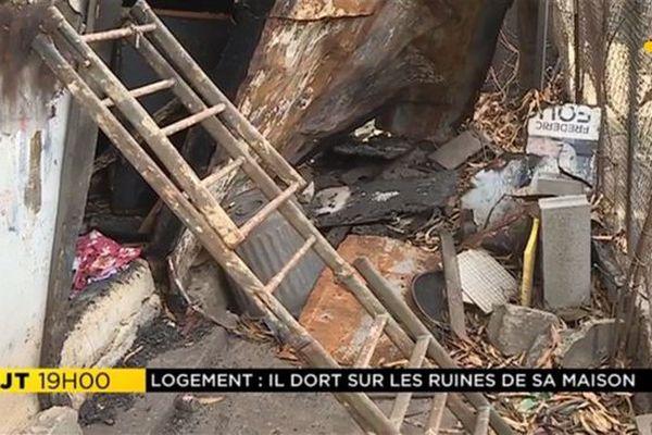 Madine ruines case incendie Saint-Denis