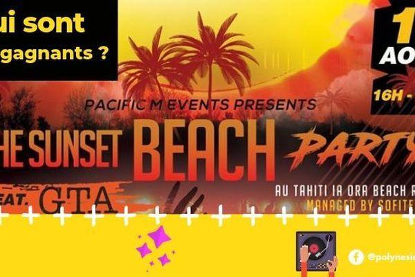 [JEU CONCOURS] The Sunset Beach Party : et les gagnants sont...