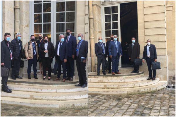 Arrivées délégations Matignon