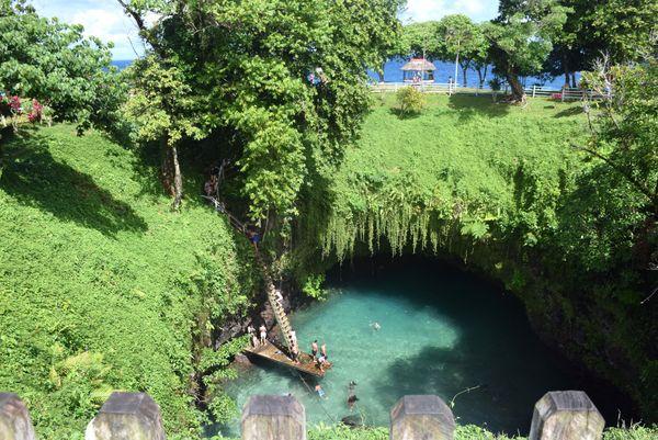Samoa 2019, le trou d'eau de To Sua