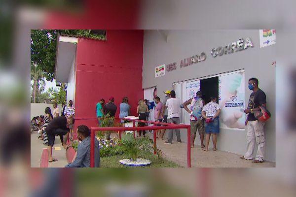 Des files d'attente devant toutes les unités d'accueil à Macapa