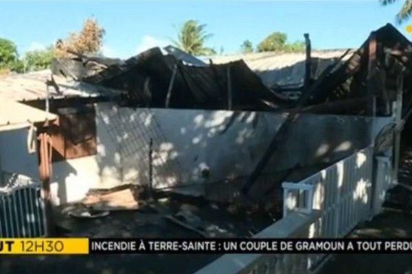 Incendie case Terre Sainte 09 06 18