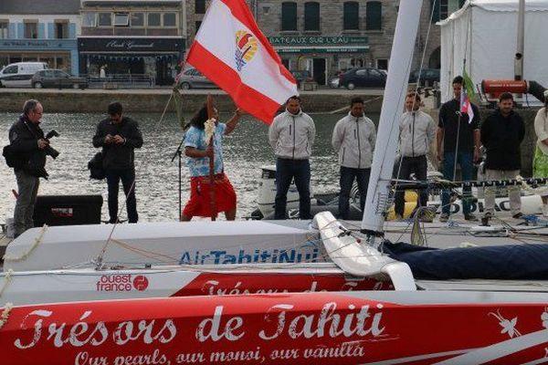 Trésor de Tahiti poursuit sa préparation pour le tour de France à la voile