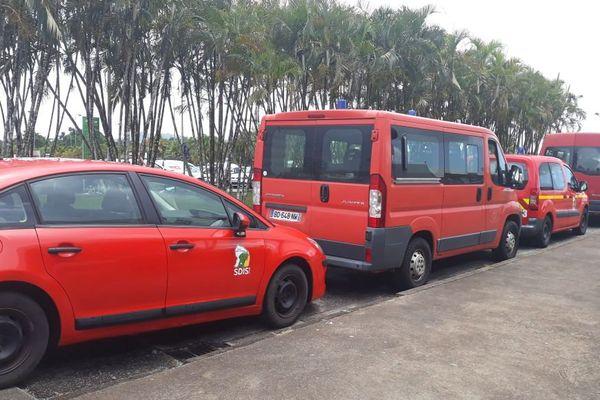 Les sapeurs pompiers sont arrivés à l'aéroport Félix Eboué samedi en fin de matinée