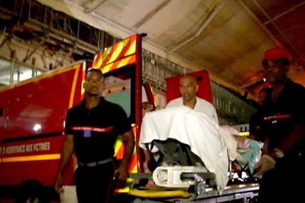 Ambulance et blessés