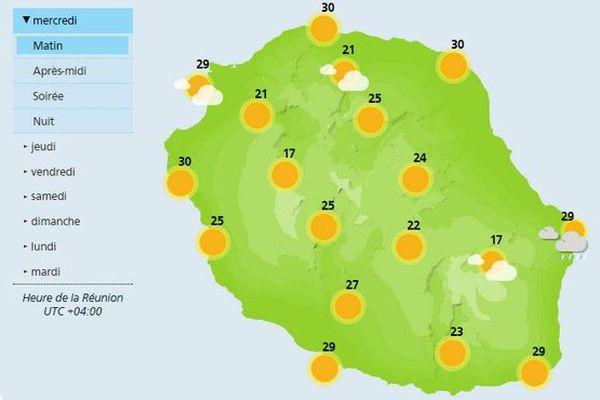 Carte météo du 31 janvier 2018