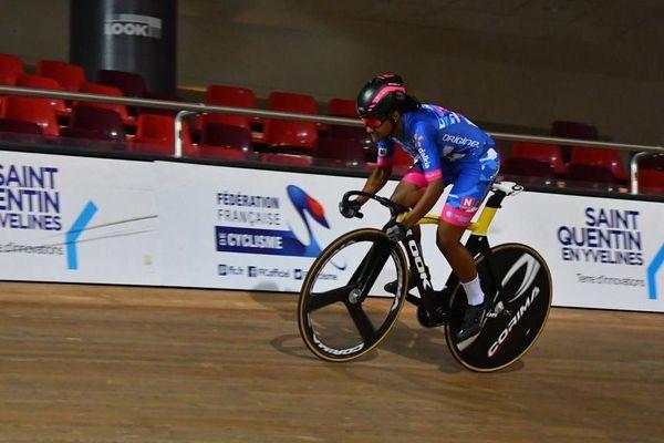 Farrah Prudent championne cadette de keirin île de France