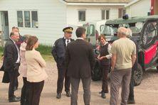 Annick Girardin s'est rendue sur Langlade pour visiter le poste de secours