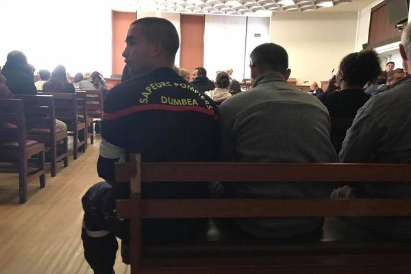 Pompier de Dumbéa au tribunal, 17 juillet 2020