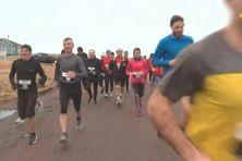 """28 personnes ont participé au """"réveil du coureur"""", la première course de la saison organisée par la Foulée des iles."""