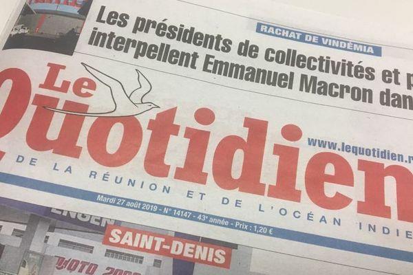 """La rédaction du """"Quotidien"""" est en grève ce mardi 27 août."""