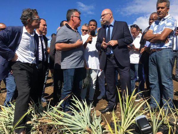Visite ministre agriculture Stéphane Travert Sainte-Anne diversification 110718