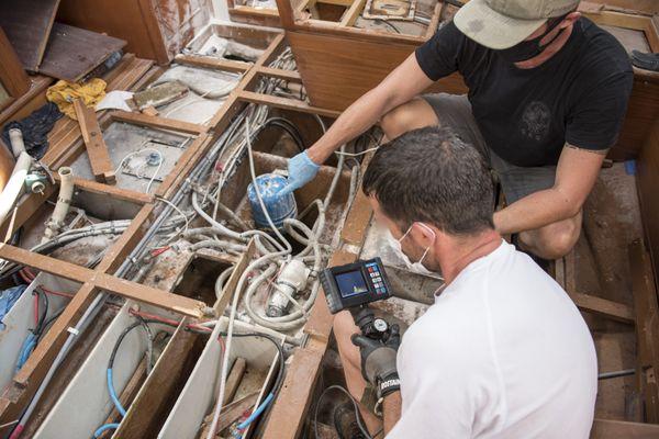 Inspection du  bateau