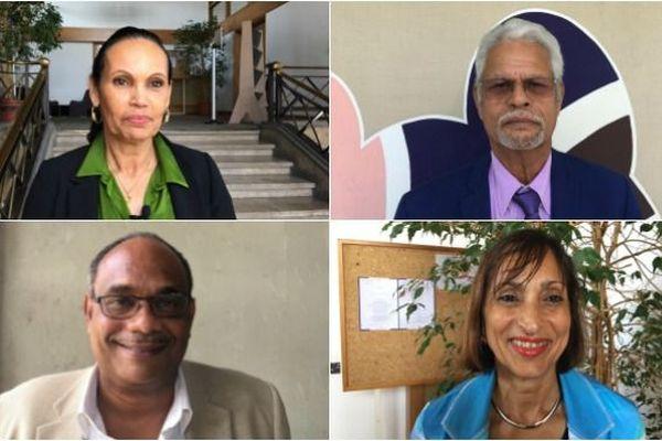 Membres du CESE : Sarah Mouhoussoune (Mayotte), Octave Togna (Nouvelle-calédonie), Jean-Etienne Antoinette (Guyane) et Isabelle Biaux-Altmann (Saint-Martin)