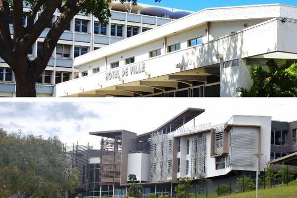 Mosaïque des mairies de Nouméa et Dumbéa