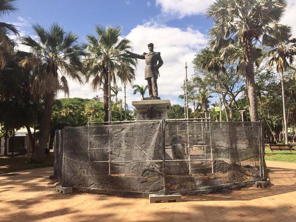 chantier statue Olry
