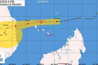 Prévison de trajectoire pour Kenneth 24 avril 2019