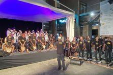 le Bidim Band Bèlè de Niko Gernet, avec plus d'une vingtaine de musiciens., vendredi 25 septembre 2020 sur l'esplanade Eugène Mona à Fort-de-France,